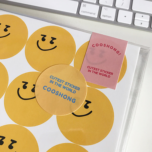 cooshong yellow ball sticker
